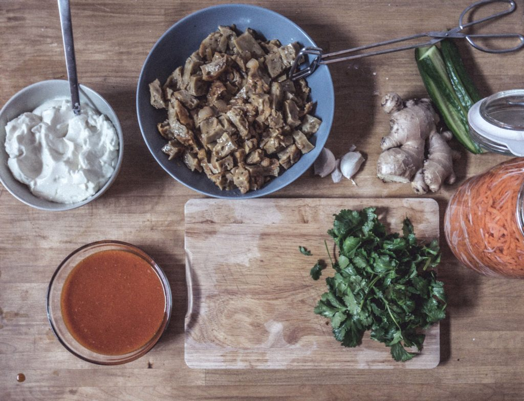P1030044-1024x784 Veganes Banh Mi Chay mit Seitan und veganer Mayo